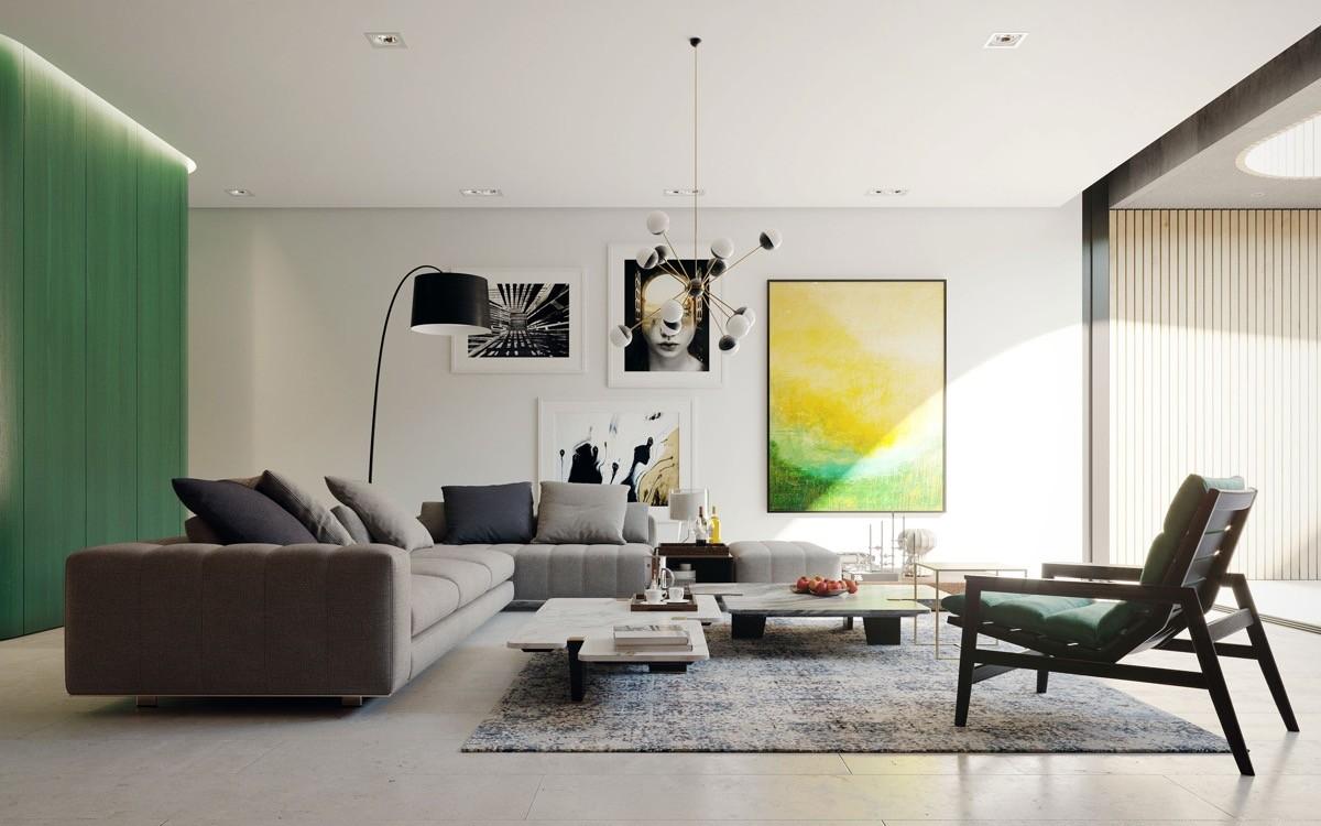 Full Size of Moderne Wohnzimmer Farben Trendge Einrichtungsideen In Grn Und Rot Decke Deko Lampe Kommode Teppiche Liege Deckenlampen Modern Stehleuchte Modernes Sofa Wohnzimmer Moderne Gardinen Wohnzimmer
