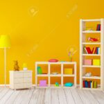 Mit Bcherregalen Spielzeug An Orange Wand Regale Regal Sofa Weiß Kinderzimmer Kinderzimmer Bücherregal