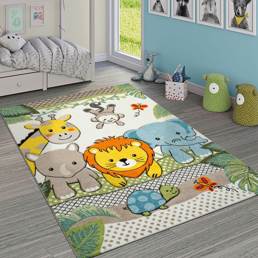 Full Size of Kinderzimmer Teppiche Kurzflor Kinderteppich Dschungeltiere Bunt Teppichcenter24 Regale Regal Weiß Wohnzimmer Sofa Kinderzimmer Kinderzimmer Teppiche
