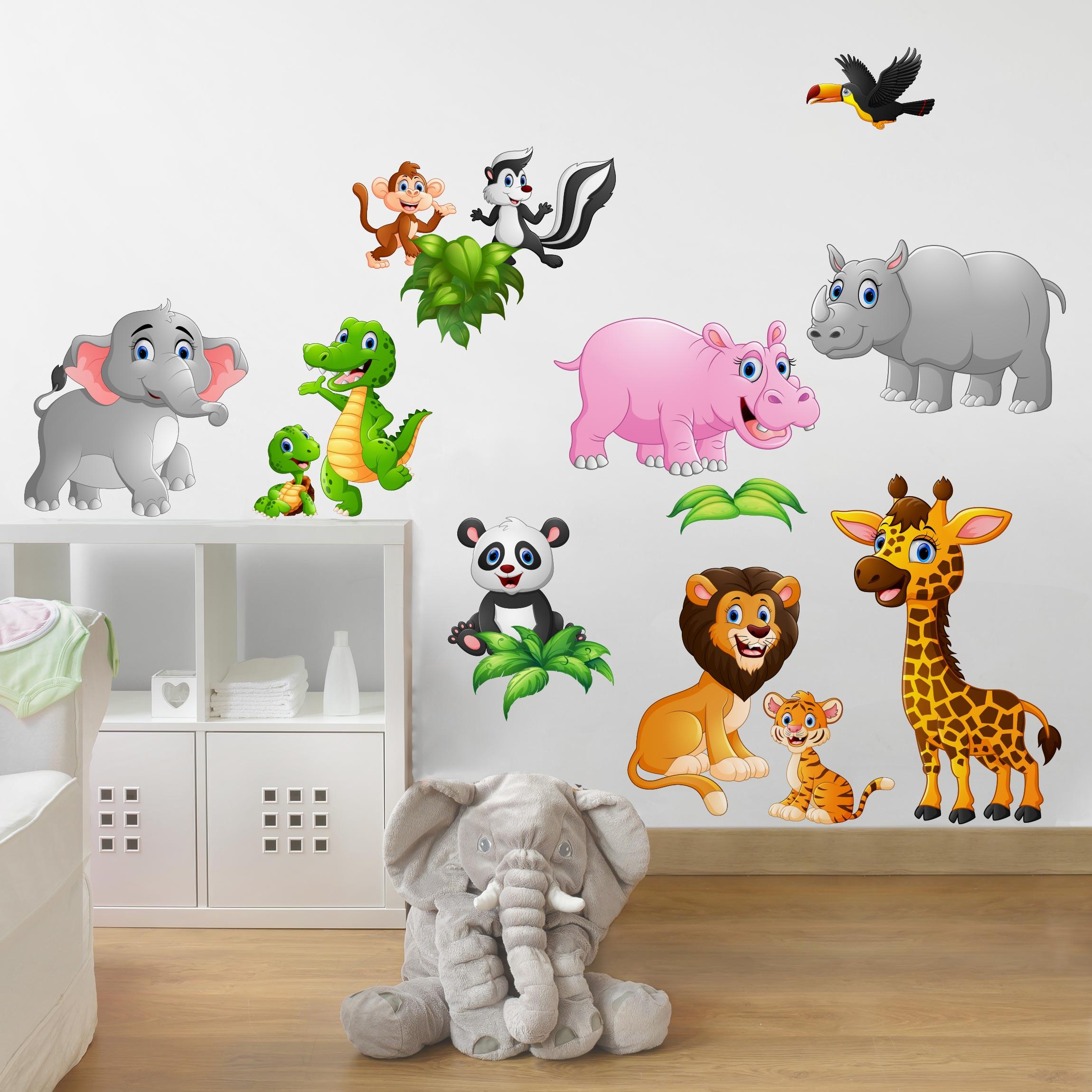 Full Size of Wandtattoo Kinderzimmer Tiere Des Dschungels Schlafzimmer Wandtattoos Bad Sprüche Regal Weiß Wohnzimmer Badezimmer Sofa Küche Regale Kinderzimmer Wandtattoo Kinderzimmer Tiere