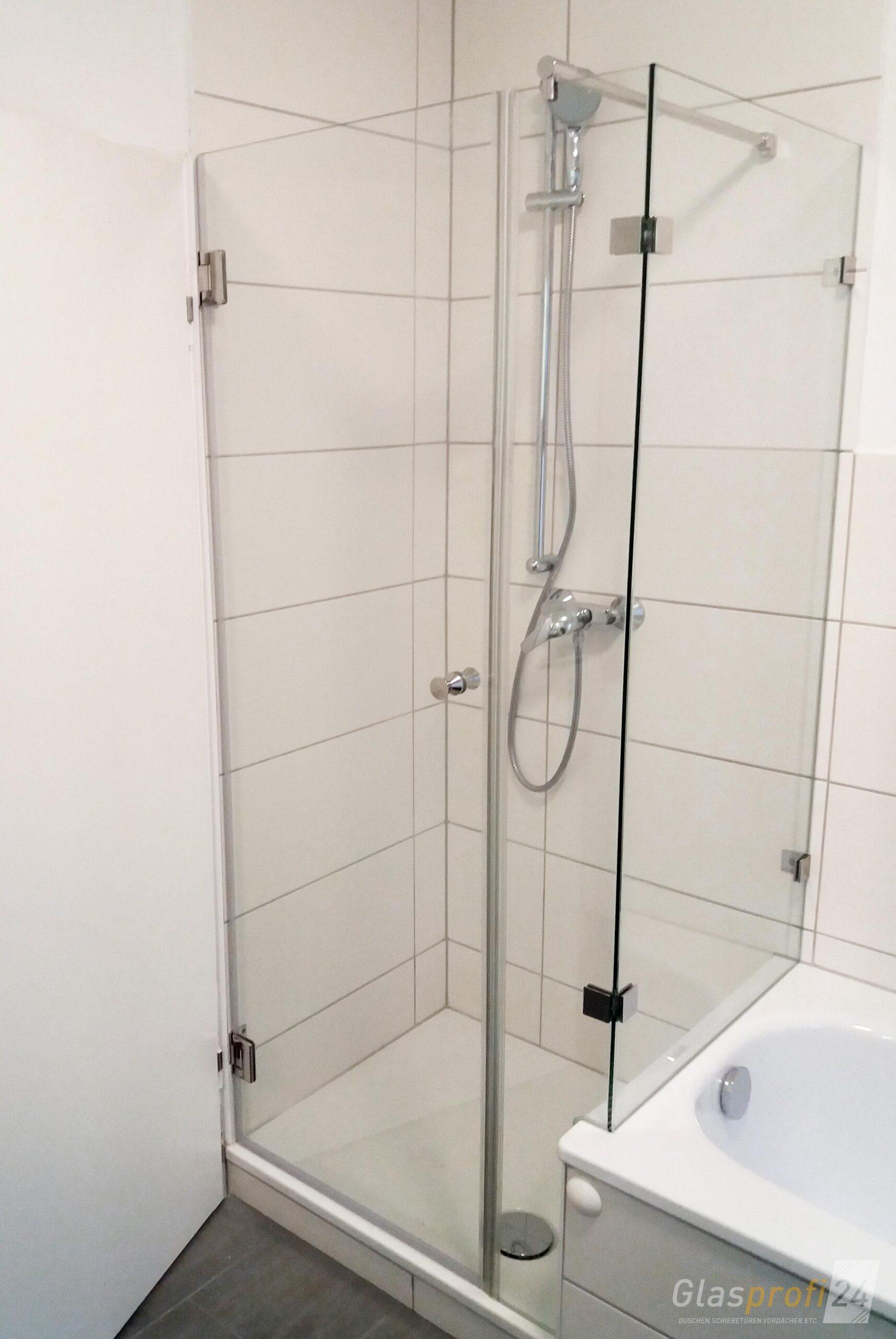 Full Size of Dusche An Badewanne Glasprofi24 Koralle Begehbare Ohne Tür Mischbatterie Schiebetür Bodengleiche Nachträglich Einbauen Glastrennwand Ebenerdige 90x90 Dusche Schiebetür Dusche