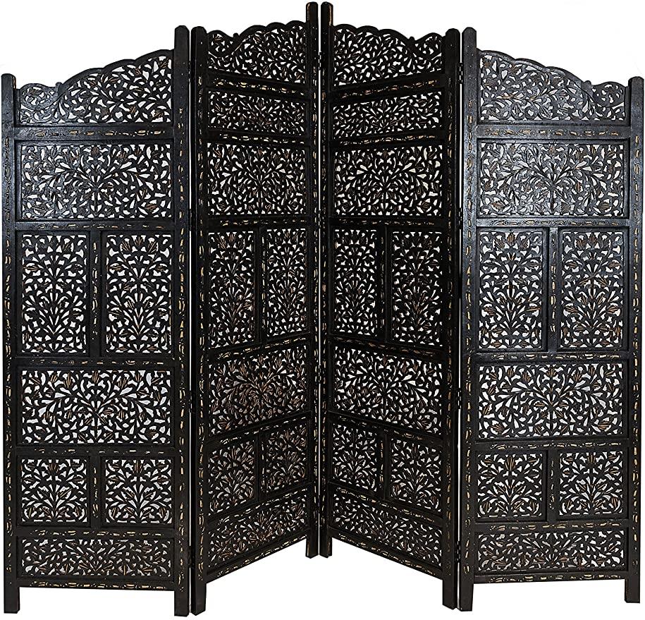 Full Size of Paravent Terrasse Orientalischer Raumteiler Aus Holz Saraswati 200 180cm Garten Wohnzimmer Paravent Terrasse