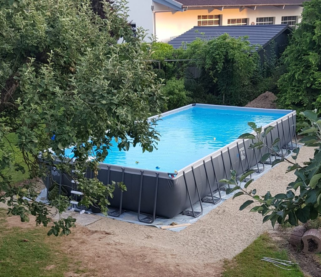 Full Size of Unser Swimmingpool Selbst Aufgebaut Antworten Auf All Eure Boxspring Bett Selber Bauen Velux Fenster Einbauen Schwimmingpool Für Den Garten Fliesenspiegel Wohnzimmer Pool Selber Bauen