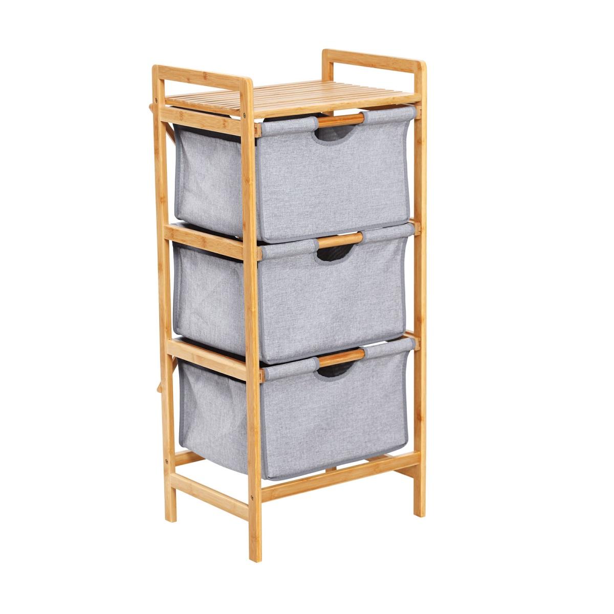 Full Size of Bambus Regal Mit 3 Stoffboxen 96 Cm Bamboo Braun Grau Graues Bett Regale Aus Europaletten Schulte Modular Landhaus Weiß Schlafzimmer Schmal Usm Haller Regal Graues Regal