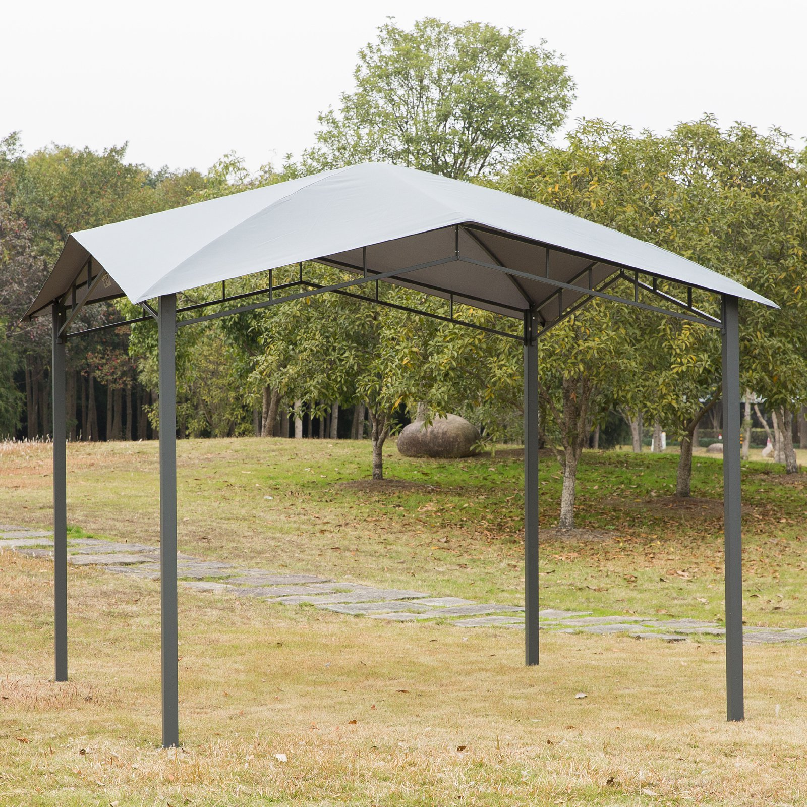 Full Size of Pergola Metall Outsunny Gartenpavillon Pavillon Berdachung Vordach Sonnenschutz Bett Regal Garten Weiß Regale Wohnzimmer Pergola Metall