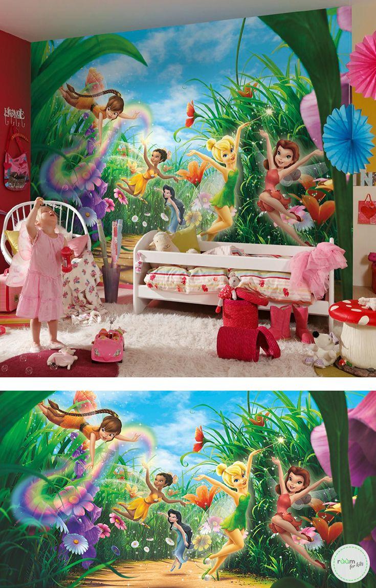 Full Size of Fototapeten Kinderzimmer Fototapete Fairies Meadow Tinker Bell Komar 8 466 Regal Sofa Weiß Wohnzimmer Regale Kinderzimmer Fototapeten Kinderzimmer