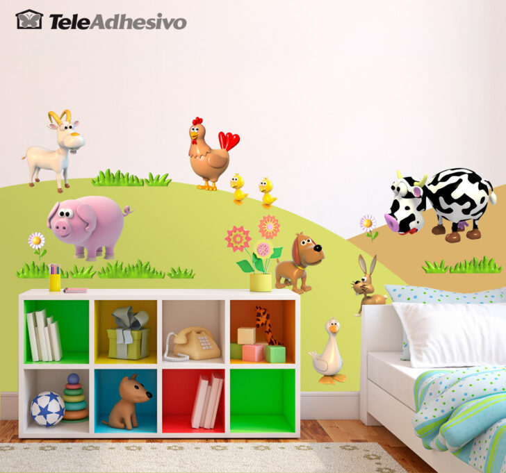 Medium Size of Wandtattoo Kinderzimmer Tiere Kit Der Farm Webwandtattoocom Wandtattoos Wohnzimmer Regal Schlafzimmer Bad Weiß Regale Küche Sprüche Badezimmer Sofa Kinderzimmer Wandtattoo Kinderzimmer Tiere