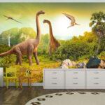 Fototapeten Kinderzimmer Kinderzimmer Fototapeten Kinderzimmer Tier Dinosaurier Fototapete Vlies Tapete Xxl Wandtapete Regal Regale Sofa Wohnzimmer Weiß