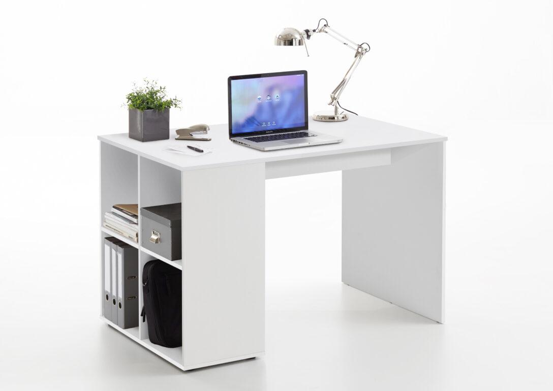 Large Size of Regal Schreibtisch Mit Klappbar Selber Bauen Integriert Ikea Kombination Regalaufsatz Integriertem Kombi Gent Von Fmd Wei Industrie 25 Cm Tief Hängeregal Regal Regal Schreibtisch