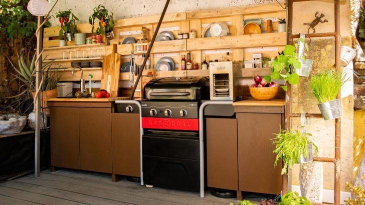 Medium Size of Kochen Im Garten So Baust Du Dir Eine Outdoorkche Selbst Bosch Diy Outdoor Küche Edelstahl Kaufen Waschbecken Bad Keramik Badezimmer Wohnzimmer Outdoor Waschbecken