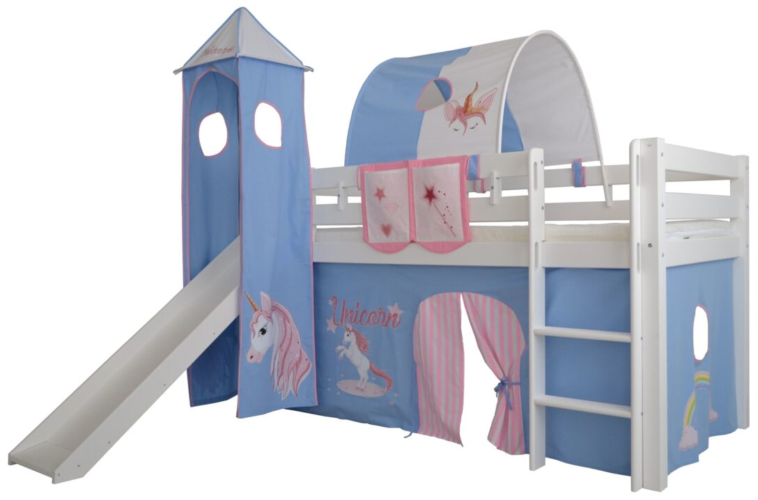 Large Size of Kinderzimmer Hochbett Halbhohes Einhorn Massivholz Mit Leiter Und Regal Weiß Regale Sofa Kinderzimmer Kinderzimmer Hochbett