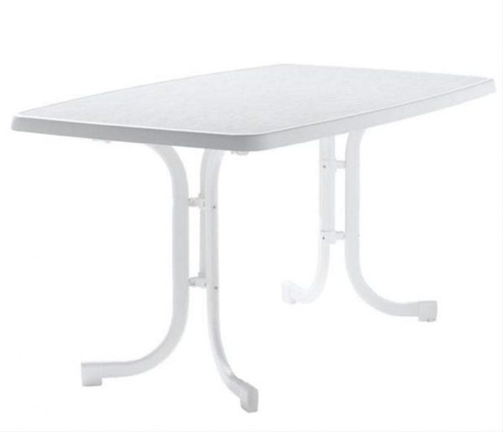 Medium Size of Gartentisch Klappbar Sieger 150 90 Cm Wei Stahl Real Bett Ausklappbar Ausklappbares Wohnzimmer Gartentisch Klappbar