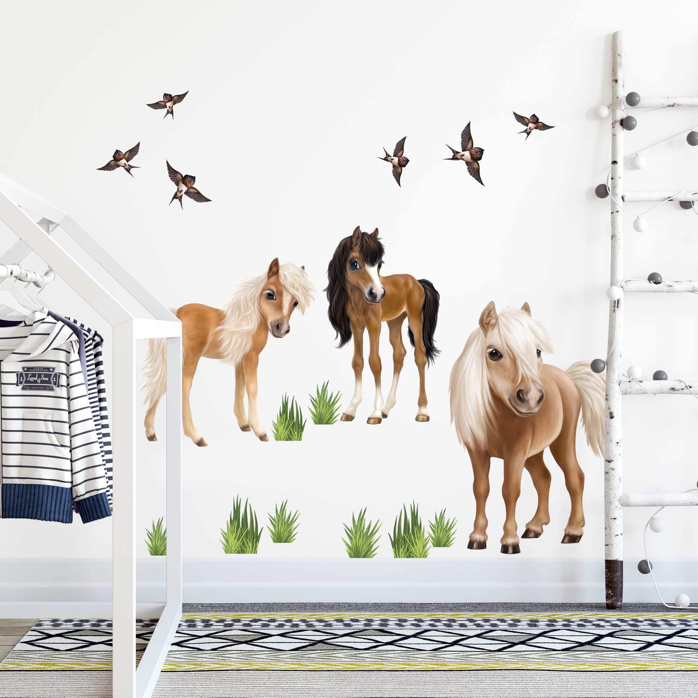 Full Size of Kinderzimmer Pferd Wandtattoo Animal Club International Set Pferde Regal Sofa Regale Weiß Kinderzimmer Kinderzimmer Pferd