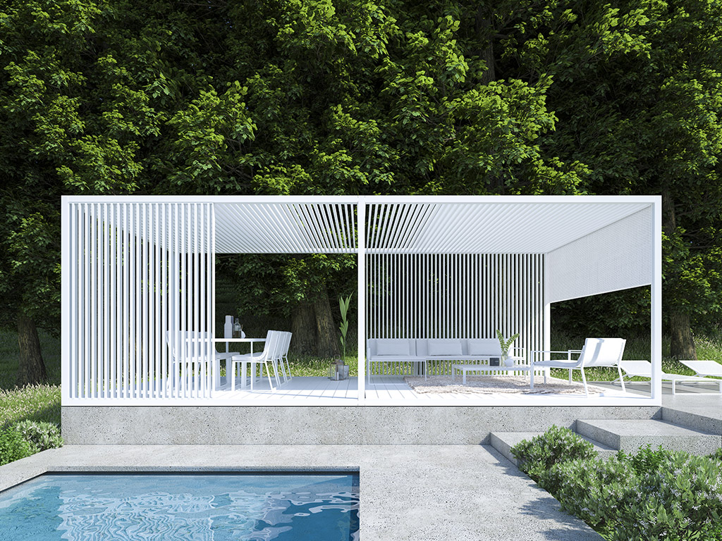 Full Size of Pergola Modern Moderna In Alluminio Designs Australia Prefab Kits Design Malaysia Attached To House Pergolas Modernas Para Terrazas Mdulo Outdoor Spaces Wohnzimmer Pergola Modern