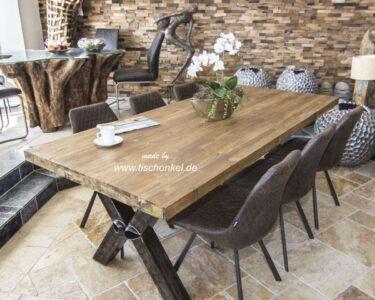 Massivholz Esstisch Esstische Massivholz Esstisch Aus Recyceltem Holz Mit Rohstahl Der Tischonkel Esstische Rund Esstischstühle Oval Modern Wildeiche Weiß 4 Stühlen Günstig Ausziehbar