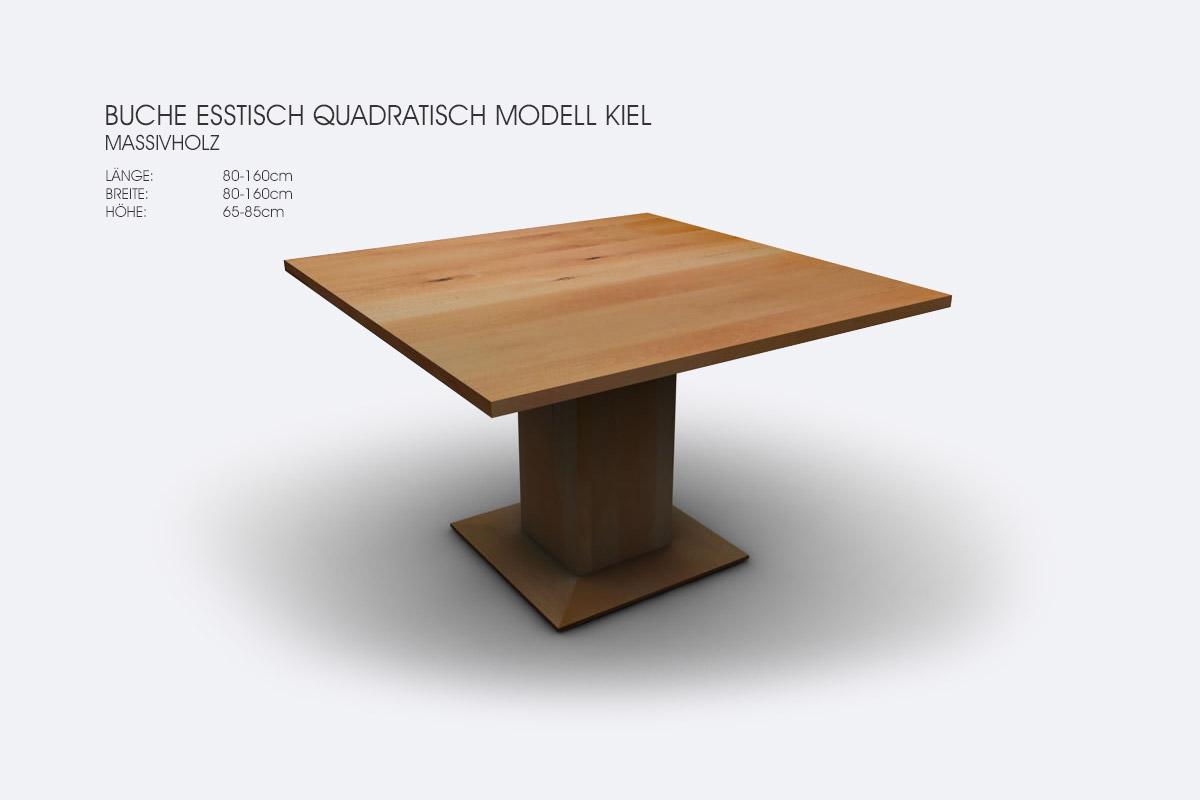 Full Size of Esstisch Quadratisch 140x140 Ausziehbar Weiss Tisch 150x150 140 X Tischfabrik24 Buche Modell Kiel 120x80 Sofa Klein Designer Esstische Massiv Stühle Esstische Esstisch Quadratisch