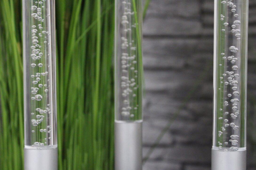 Large Size of Gartendeko Modern Arnusa Gartenstecker Acryl Glassulen 3er Set Tapete Küche Modernes Bett Design Holz Deckenlampen Wohnzimmer Moderne Esstische Deckenleuchte Wohnzimmer Gartendeko Modern