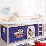 Kinderzimmer Hochbett Kinderzimmer Kinderzimmer Hochbett Vorhang Bettvorhang Stoff Seeruber Pirat Fr Spielbett Regal Weiß Regale Sofa