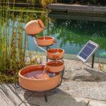 Gartenbrunnen Solar Wohnzimmer Gartenbrunnen Solar Kaskadenbrunnen Terrakotta Mit Akkuspeicher Und Led Licht