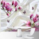 Beibehang 3d Foto Papier Tapete Farbe Wand Minimalistischen Wohnzimmer Magnolia Farbe