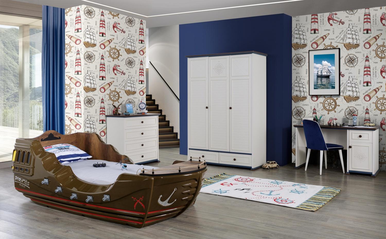 Full Size of Kinderzimmer Set Marine Captain Pirates Mit Schiff Bett Regal Sofa Regale Weiß Kinderzimmer Piraten Kinderzimmer