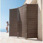 Paravent Outdoor Wohnzimmer Paravent Outdoor Garten Holz Balkon Glas Bambus Amazon Polyrattan Ikea Metall Amazonde Merxparavent Lucca Küche Edelstahl Kaufen