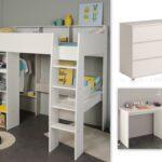 Kinderzimmer Hochbett Kinderzimmer Kinderzimmer Hochbett Set 3 Tlg Inkl 90x200 Regal Sofa Regale Weiß