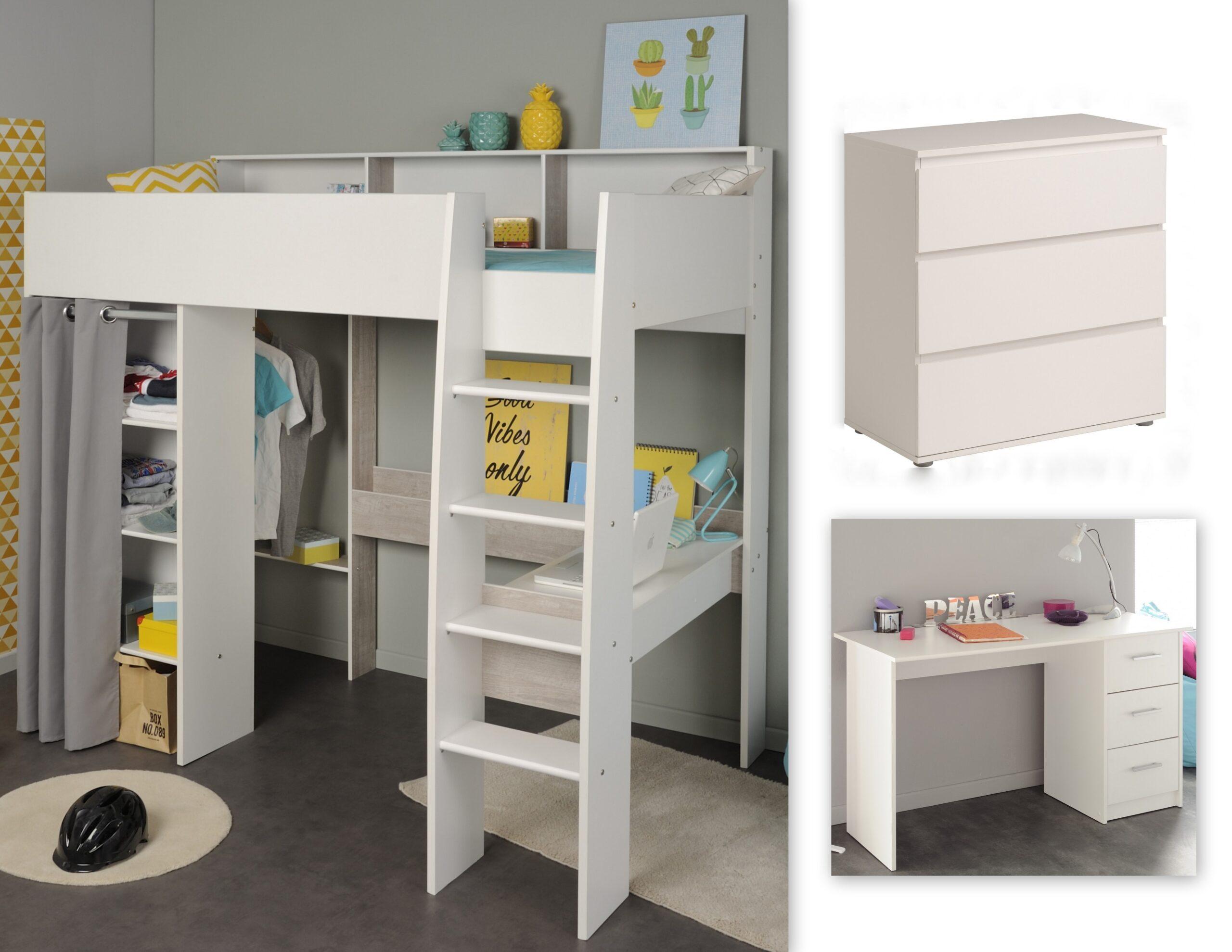 Full Size of Kinderzimmer Hochbett Set 3 Tlg Inkl 90x200 Regal Sofa Regale Weiß Kinderzimmer Kinderzimmer Hochbett