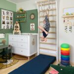 Sprossenwand Kinderzimmer Kinderzimmer Sprossenwand Kinderzimmer Bilder Ideen Couch Sofa Regal Regale Weiß