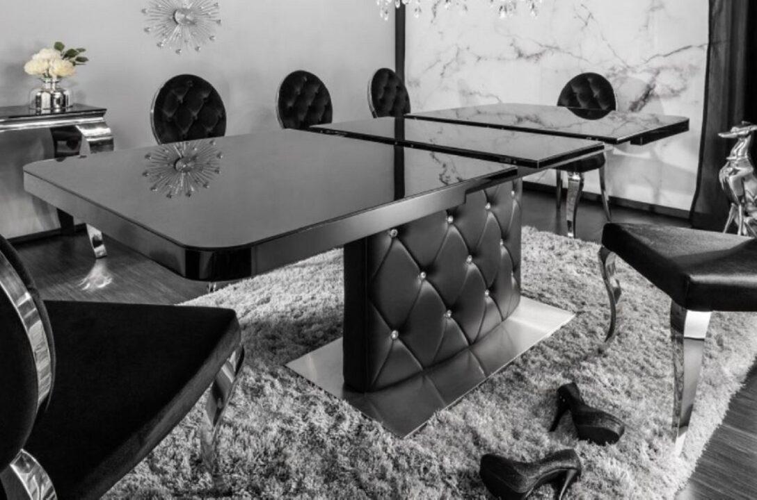 Large Size of Casa Padrino Esstisch Schwarz Silber 160 200 90 H 76 Cm Esstische Holz Design Rund Modernes Bett 180x200 Massivholz Moderne Ausziehbar Landhausküche Designer Esstische Moderne Esstische