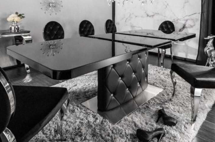 Medium Size of Casa Padrino Esstisch Schwarz Silber 160 200 90 H 76 Cm Esstische Holz Design Rund Modernes Bett 180x200 Massivholz Moderne Ausziehbar Landhausküche Designer Esstische Moderne Esstische