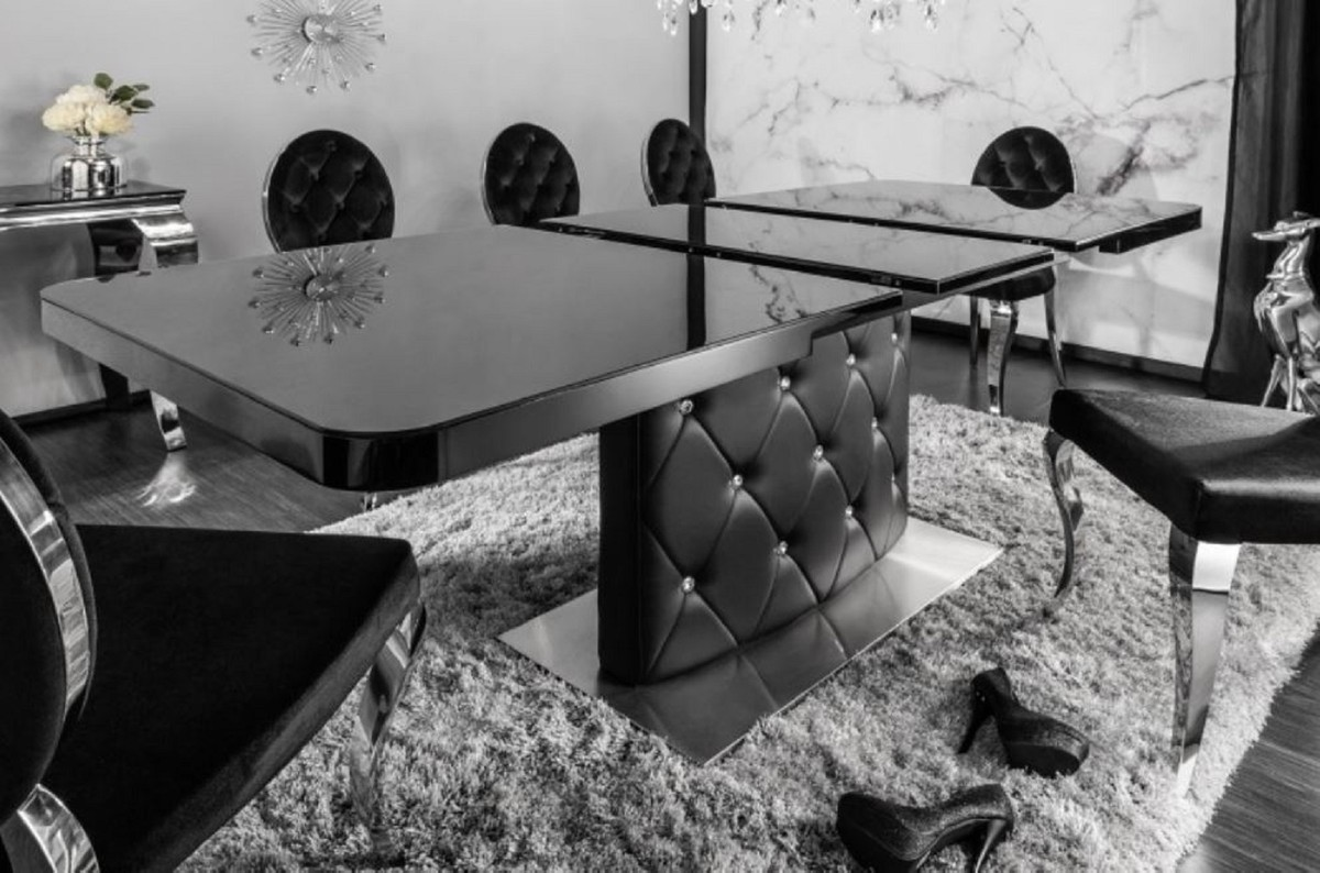 Full Size of Casa Padrino Esstisch Schwarz Silber 160 200 90 H 76 Cm Esstische Holz Design Rund Modernes Bett 180x200 Massivholz Moderne Ausziehbar Landhausküche Designer Esstische Moderne Esstische