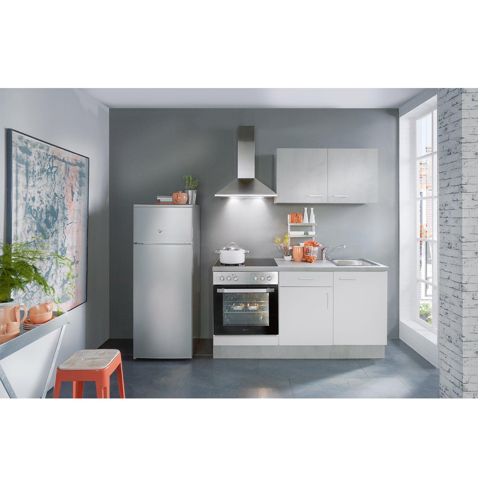Full Size of Roller Küchen Mini Kche Wei Beton Optik 160 Cm Online Bei Kaufen Regal Regale Wohnzimmer Roller Küchen