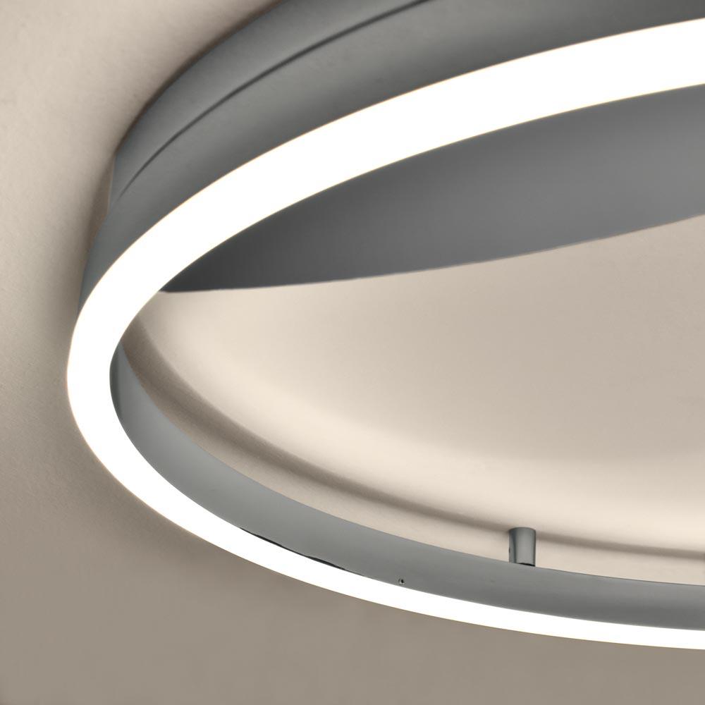 Full Size of Sluce Pro Led Deckenleuchte Ring Xl 100cm Dimmbar Chrom 77487 Wohnzimmer Vorhänge Deckenlampe Moderne Bilder Fürs Hängeschrank Lampen Deckenleuchten Modern Wohnzimmer Deckenleuchten Wohnzimmer