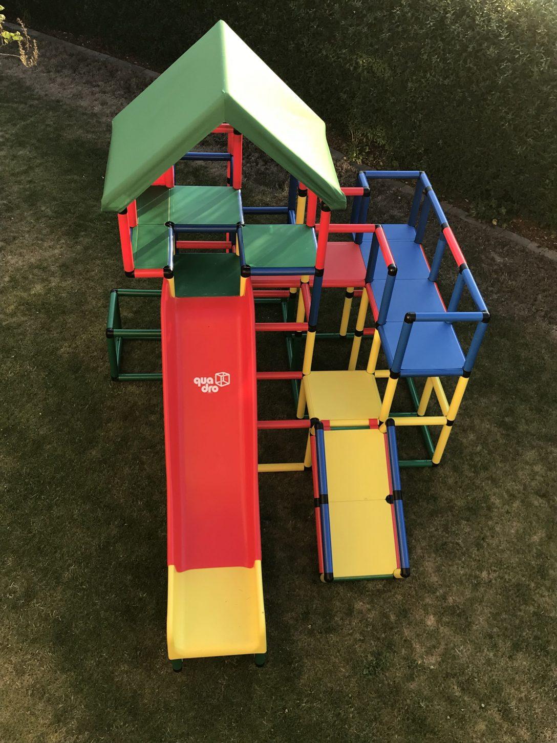 Large Size of Quadro Klettergerüst Unser Klettergerst Mit Zwei Rutschen Garten Wohnzimmer Quadro Klettergerüst