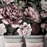 Fototapete Blumen Wohnzimmer Fototapete Blumen Schlafzimmer Blumenwiese Weiss Vintage Rosa Vlies Dunkel Fototapeten 3d Aquarell Tapete Rose Bltter Flche Muster Fenster Küche Wohnzimmer