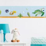Bordüren Kinderzimmer Kinderzimmer Dekoration Mbel Wohnen Wandkings Bunte Bordren Regal Kinderzimmer Sofa Regale Weiß