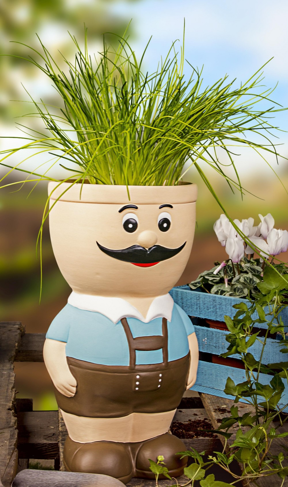 Full Size of Kräutertopf Blumentopf Figur Sepp Aus Keramik Krutertopf Bertopf Fr Blumen Küche Wohnzimmer Kräutertopf