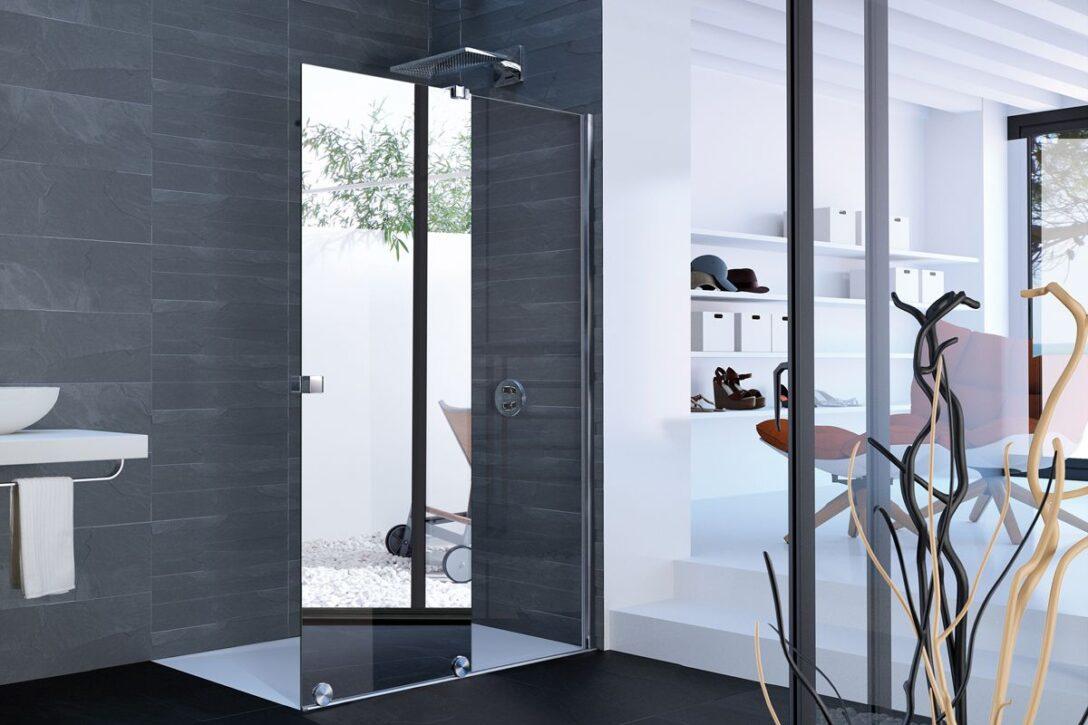 Large Size of Hüppe Dusche Hppe Praktisches Tandem Duschabtrennung Plus Spiegel Bodengleiche Duschen Einbauen Grohe Badewanne Mit Glasabtrennung Glastrennwand Bluetooth Dusche Hüppe Dusche