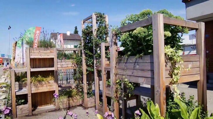 Hochbeet Sichtschutz Im Garten Für Fenster Holz Sichtschutzfolie Einseitig Durchsichtig Sichtschutzfolien Wpc Wohnzimmer Hochbeet Sichtschutz