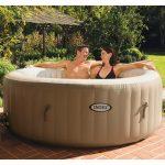 Whirlpool Aufblasbar Intepurespa Mit Massagedsen 196x71cm Garten Wohnzimmer Whirlpool Aufblasbar