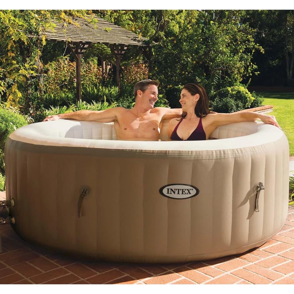 Full Size of Whirlpool Aufblasbar Intepurespa Mit Massagedsen 196x71cm Garten Wohnzimmer Whirlpool Aufblasbar