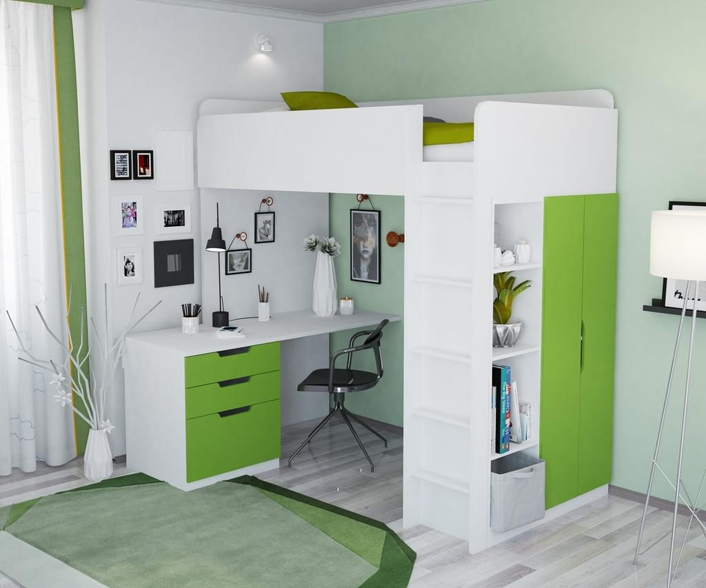 Full Size of Hochbett Kinderzimmer Polini Kids Mit Kleiderschrank Und Real Regal Weiß Regale Sofa Kinderzimmer Hochbett Kinderzimmer