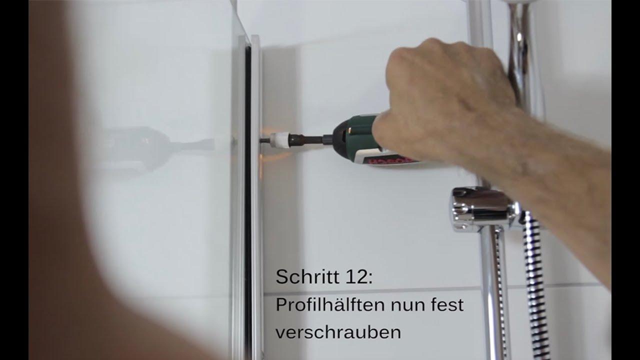 Full Size of Montage Eines Gtw Klemmprofil Beispiel Walk In Dusche Youtube Haltegriff Einhebelmischer Bodenebene Unterputz Armatur Begehbare Fliesen Wand Glaswand Dusche Glastür Dusche
