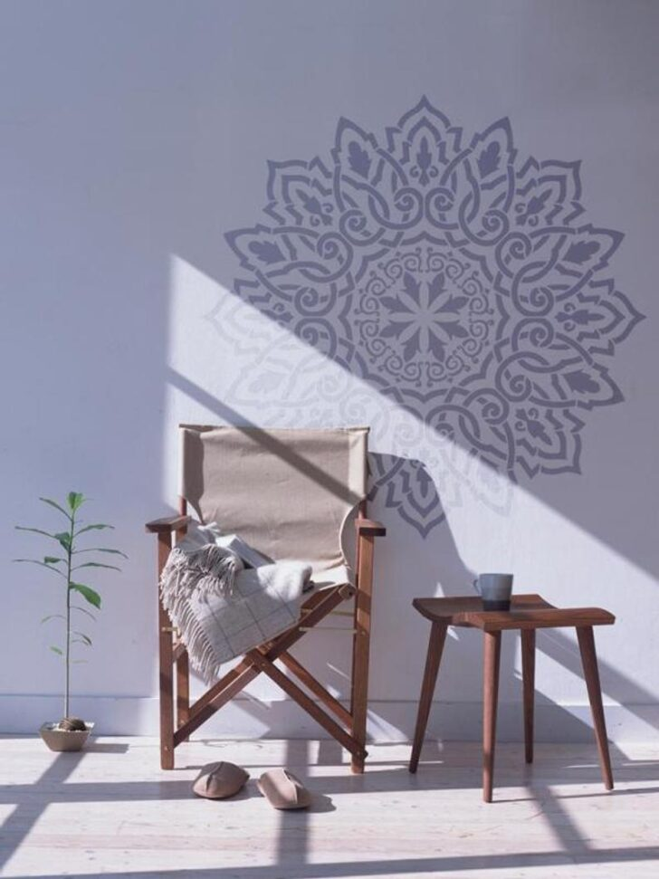 Medium Size of Arabisch Mandala Wandschablone Dekorative Wandshablone Fr Etsy Regal Kinderzimmer Weiß Regale Sofa Kinderzimmer Wandschablonen Kinderzimmer