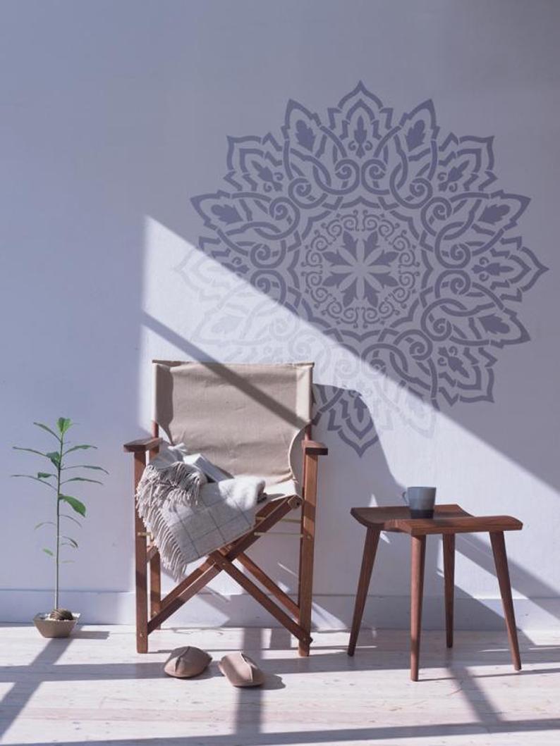 Full Size of Arabisch Mandala Wandschablone Dekorative Wandshablone Fr Etsy Regal Kinderzimmer Weiß Regale Sofa Kinderzimmer Wandschablonen Kinderzimmer