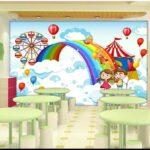 Wandbild Kinderzimmer Kinderzimmer Wandbild 3d Tapete Foto Nach Gre Cartoon Regale Regal Wohnzimmer Weiß Sofa Schlafzimmer