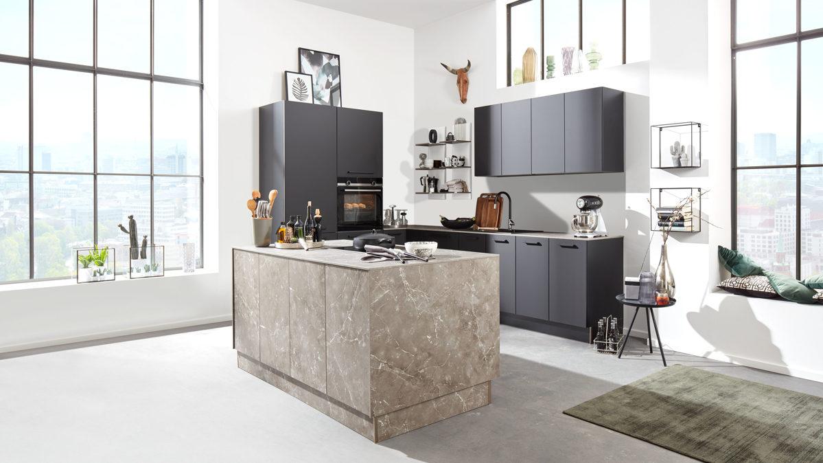 Full Size of Interliving Kche Serie 3012 Mit Siemens Einbaugerten Küchen Regal Wohnzimmer Küchen