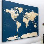 Pinnwand Modern Weltkarte Dunkelblau Detailliert Bett Design Moderne Deckenleuchte Wohnzimmer Bilder Modernes Sofa Landhausküche Esstisch Küche Weiss Duschen Wohnzimmer Pinnwand Modern