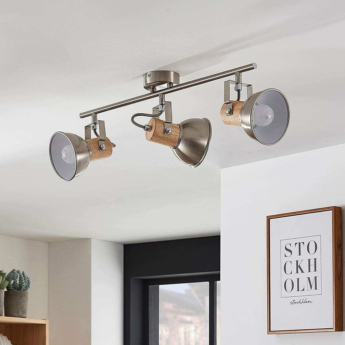 Full Size of Küchenleuchte Led Deckenlampe Dennis Holz Kchenleuchte 4 Flammig Lampenwelt Wohnzimmer Küchenleuchte